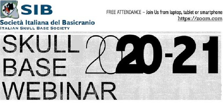 ITALIAN SKULL BASE SOCIETY WEBINAR 2020-2021 PITUITARY SURGERY TODAY Davide Locatelli, Varese, Italy