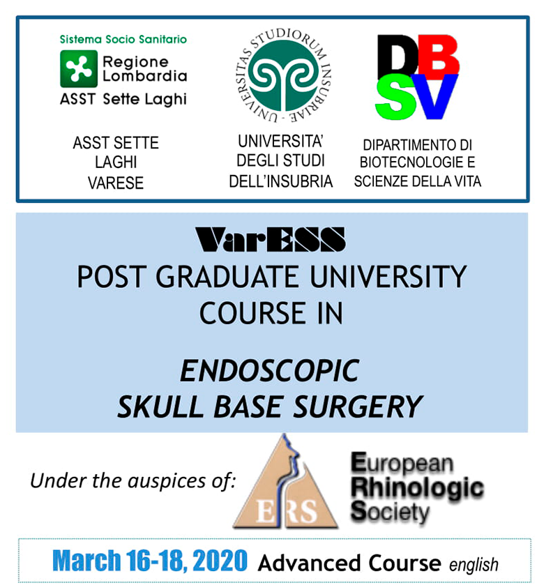 POST GRADUATE UNIVERSITY COURSE IN ENDOSCOPIC SKULL BASE SURGERY