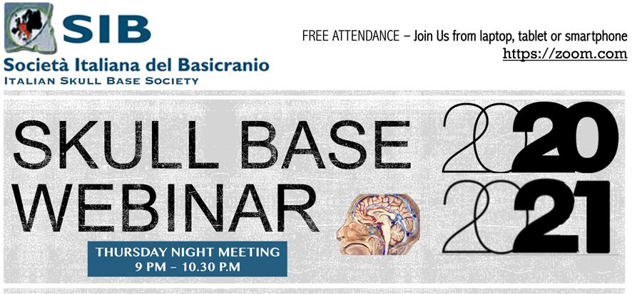 SKULL BASE WEBINAR 2020-2021 CONTROVERSIES IN LATERAL SKULL BASE SURGERY, R.Pareschi, Legnano